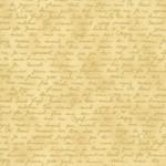 Stof Fabrics Christmas Wonders - Text - Beige Gold