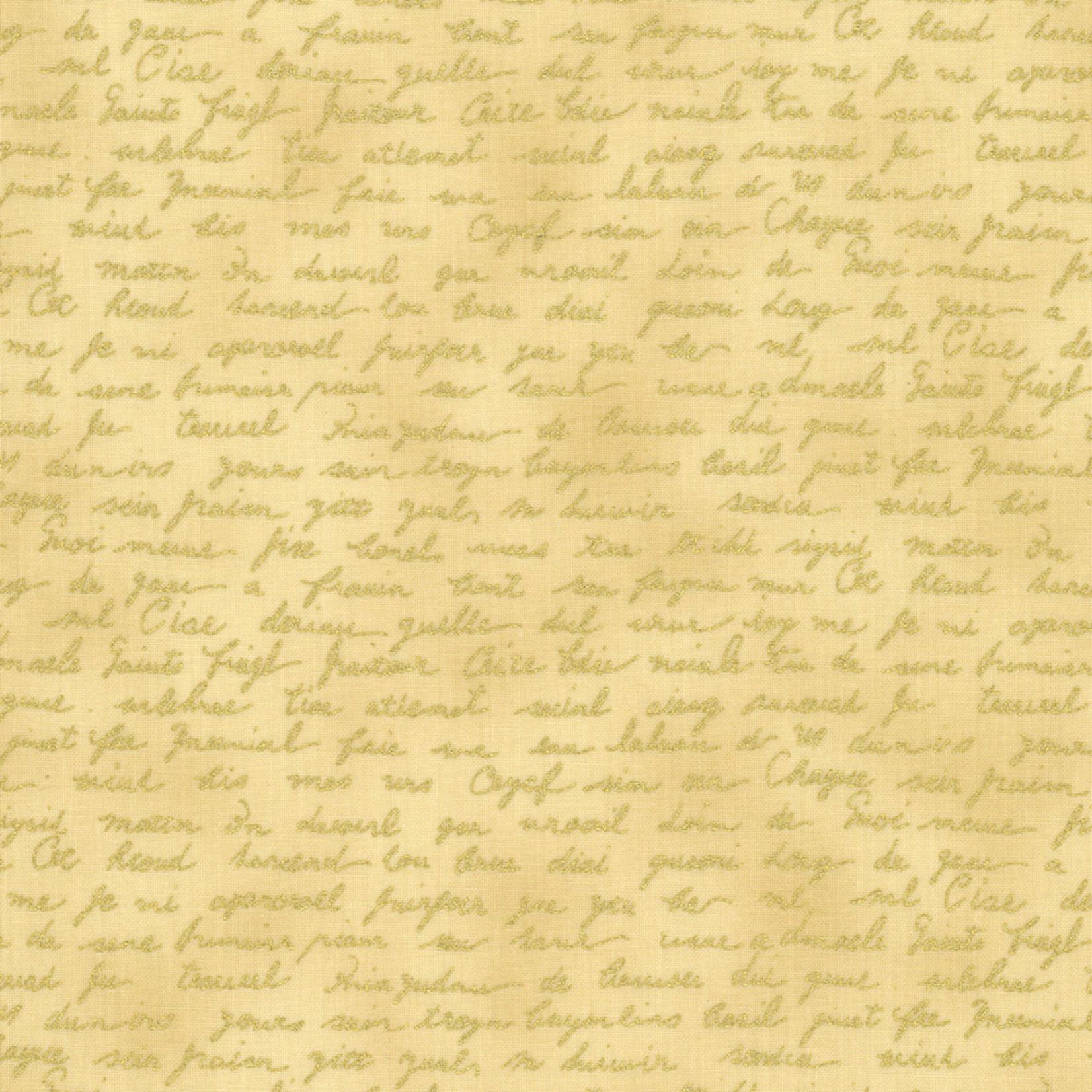 Stoffabrics Christmas Wonders - Text - Beige Gold