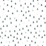 Stof Fabrics Christmas Wonders - Trees - White Silver