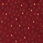 Stof Fabrics Christmas Wonders - Trees - Red Gold