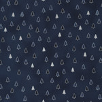 Stof Fabrics Christmas Wonders - Trees - Blue Silver