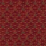 Stof Fabrics Christmas Wonders - Hearts - Red Gold