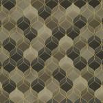 Stof Fabrics Christmas Wonders - Geo - Walnut Gold