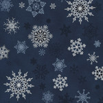 Stof Fabrics Christmas Wonders - Snowflakes - Blue Silver