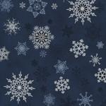 Stoffabrics Christmas Wonders - Snowflakes - Blue Silver