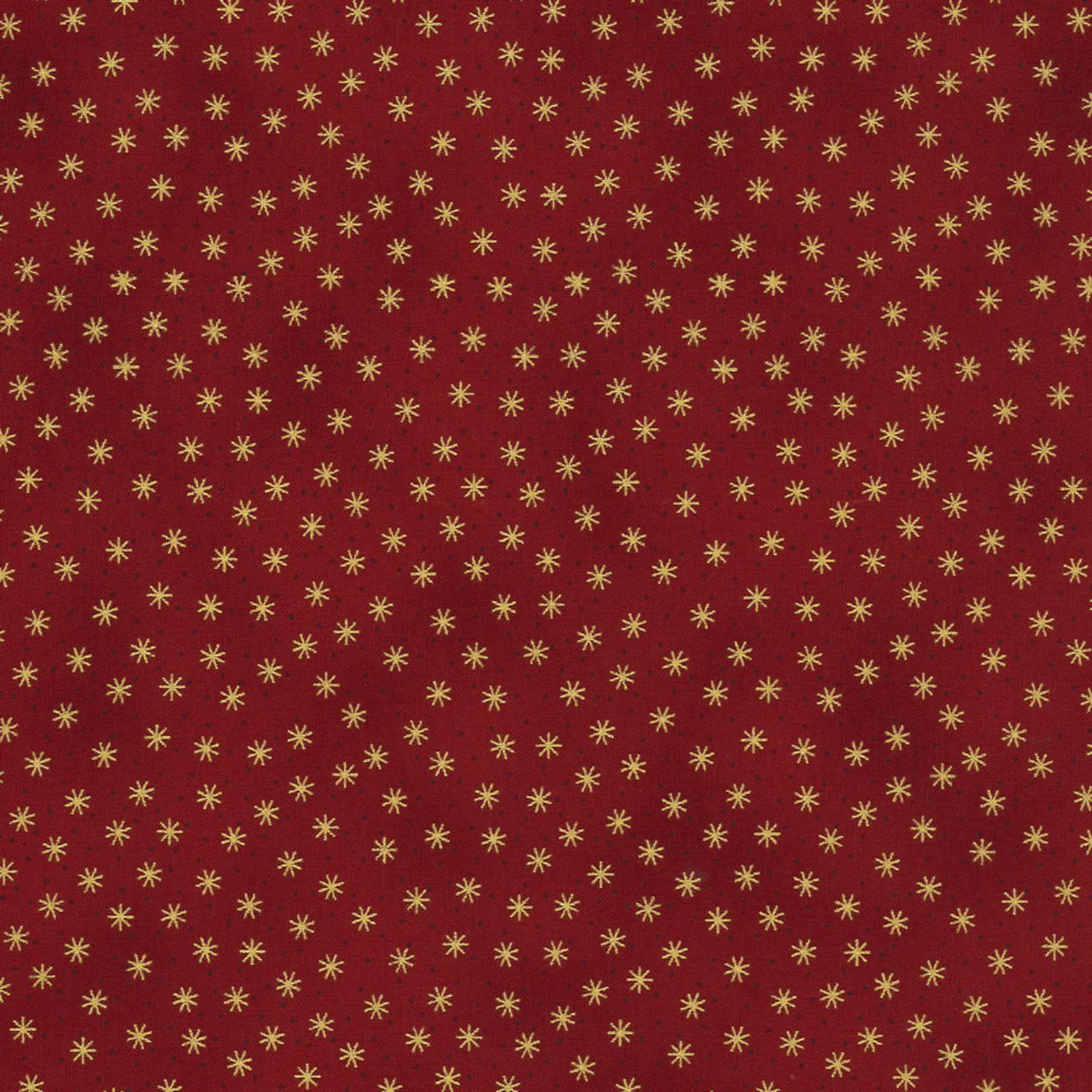 Stoffabrics Christmas Wonders - Stars - Red Gold