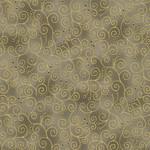 Stof Fabrics Christmas Wonders - Swirls - Walnut Gold