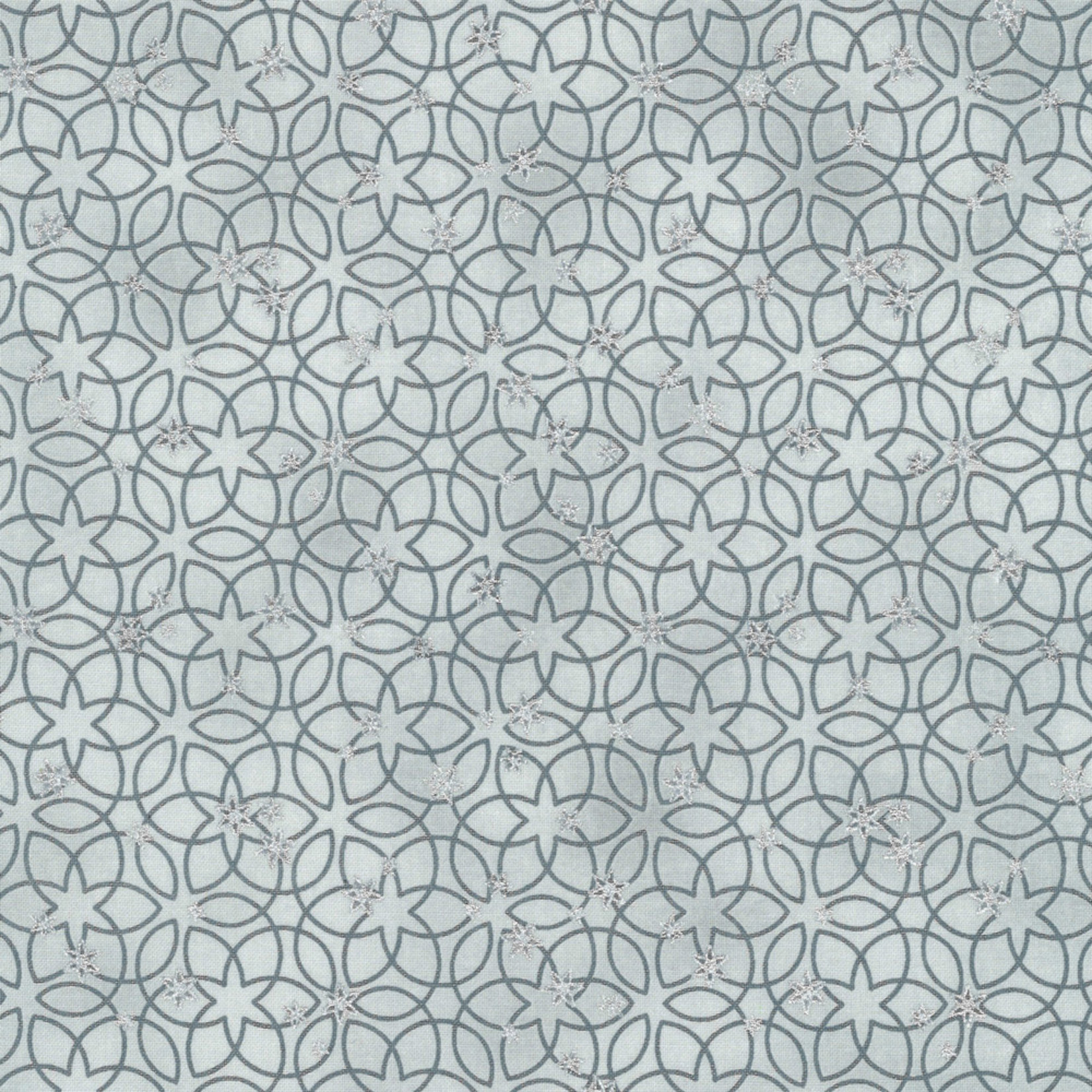 Stoffabrics Christmas Wonders - Stars & Loops - Grey Silver