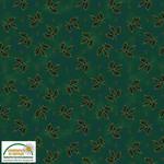Stof Fabrics Magic Christmas - Holly - Green