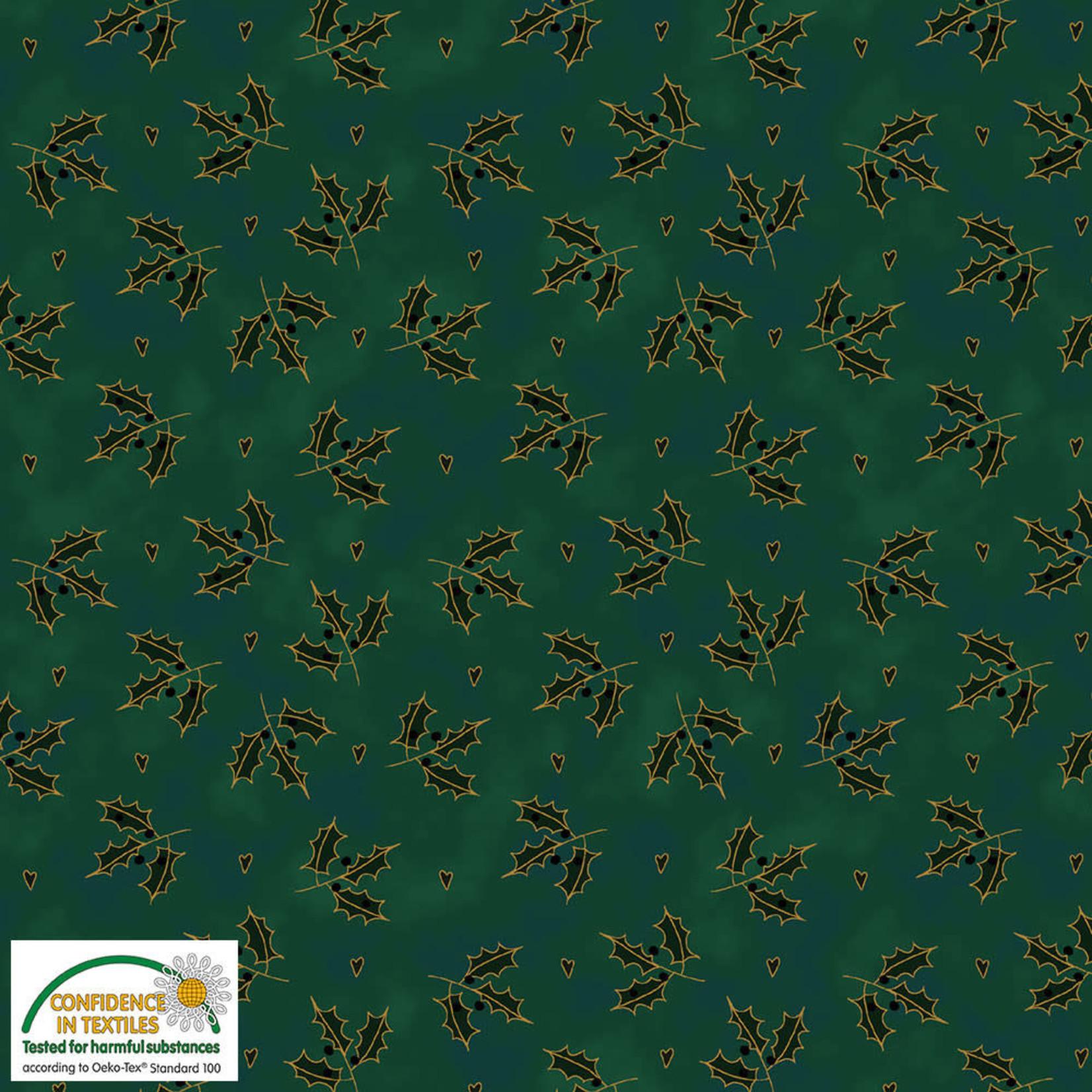 Stoffabrics Magic Christmas - Holly - Green