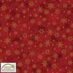 Stof Fabrics Magic Christmas - Snowflakes - Red