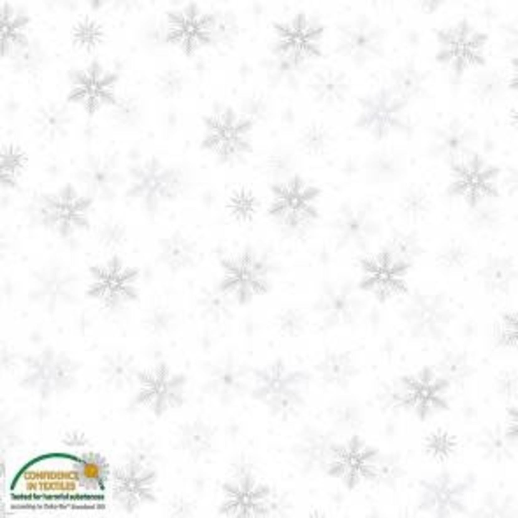 Stoffabrics Magic Christmas - Snowflakes - White