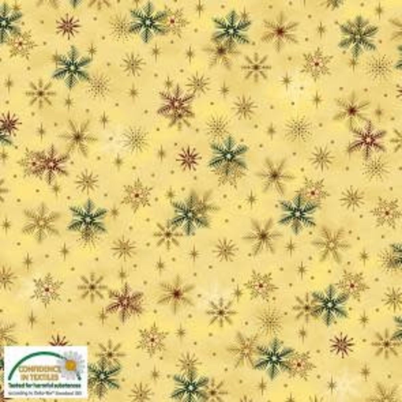 Stoffabrics Magic Christmas - Snowflakes - Beige