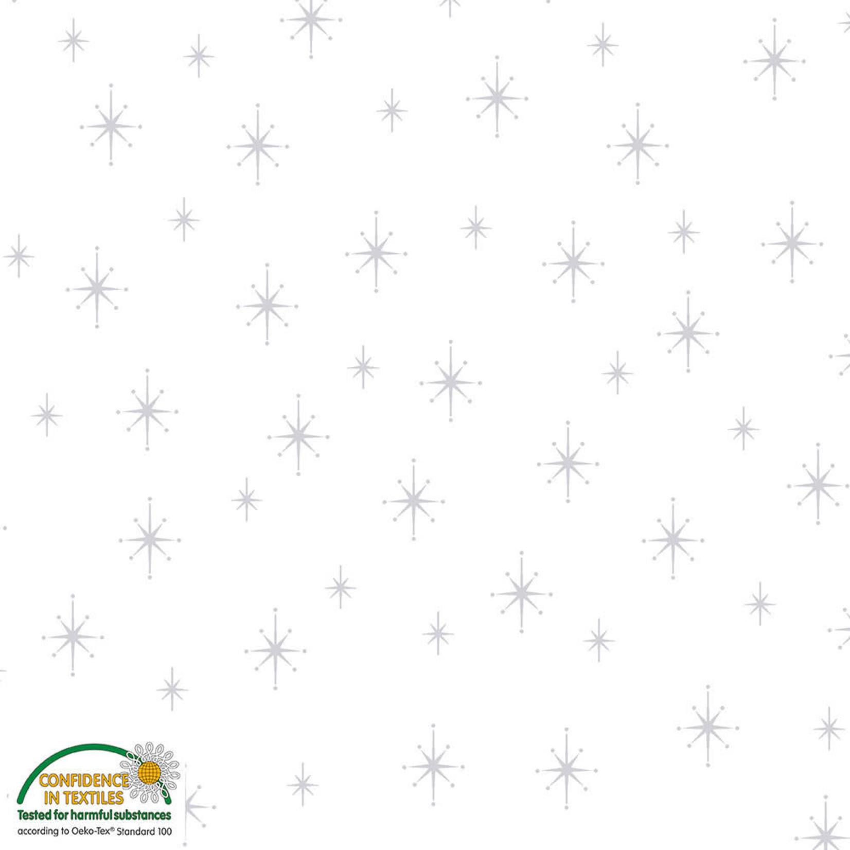 Stoffabrics Magic Christmas - Stars - White