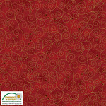 Stof Fabrics Magic Christmas - Swirls - Red