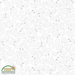 Stof Fabrics Magic Christmas - Swirls - White