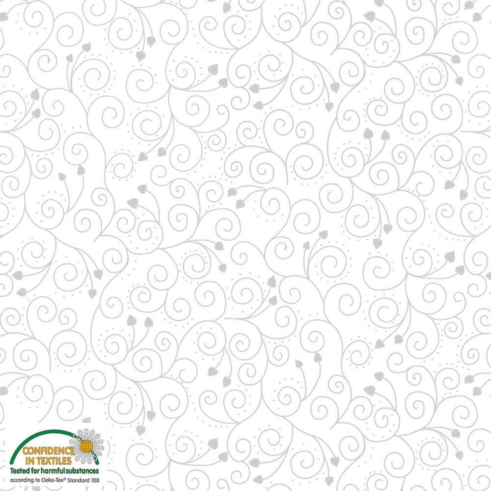 Stoffabrics Magic Christmas - Swirls - White