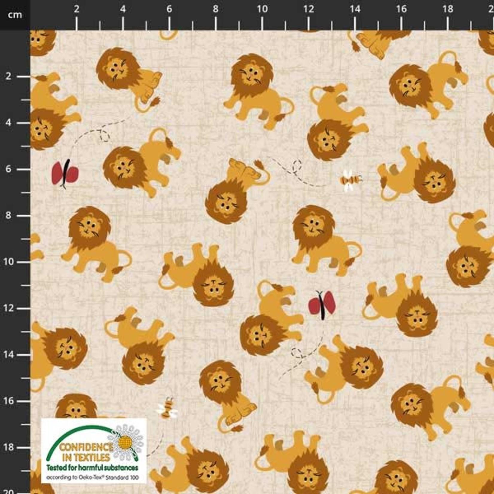 Stof Fabrics Coco's Wildlife - Lion