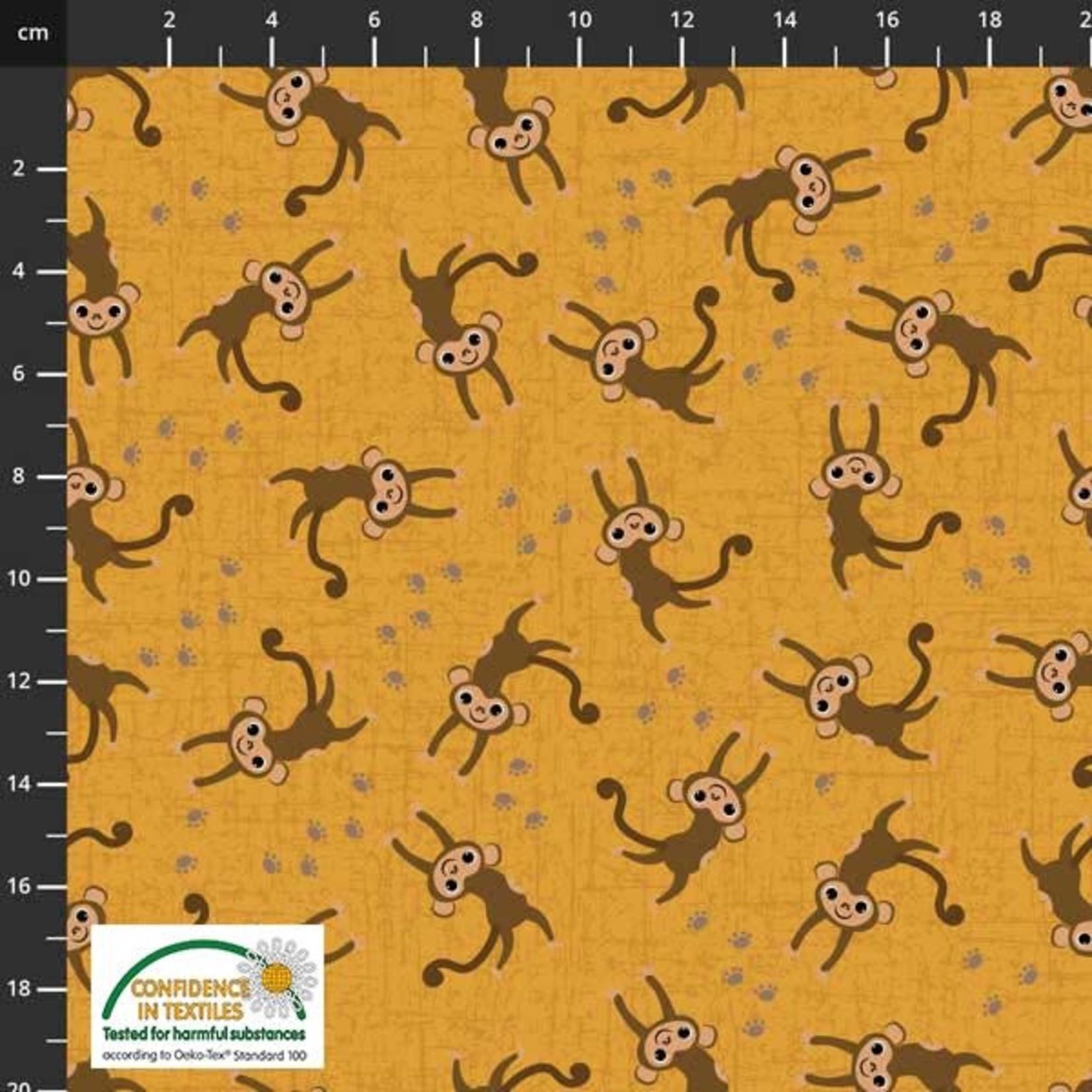 Stof Fabrics Coco's Wildlife - Monkey