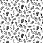 Stof Fabrics Domino Effect - Cactussen - Wit