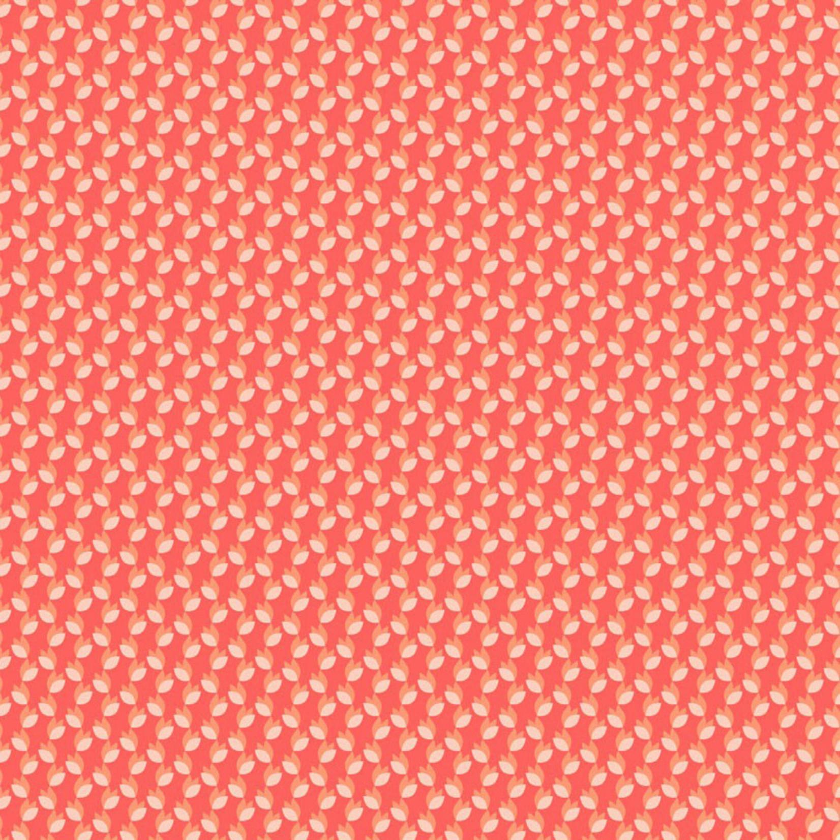 Stof Fabrics Hannah Basic - Tulips - Zalm