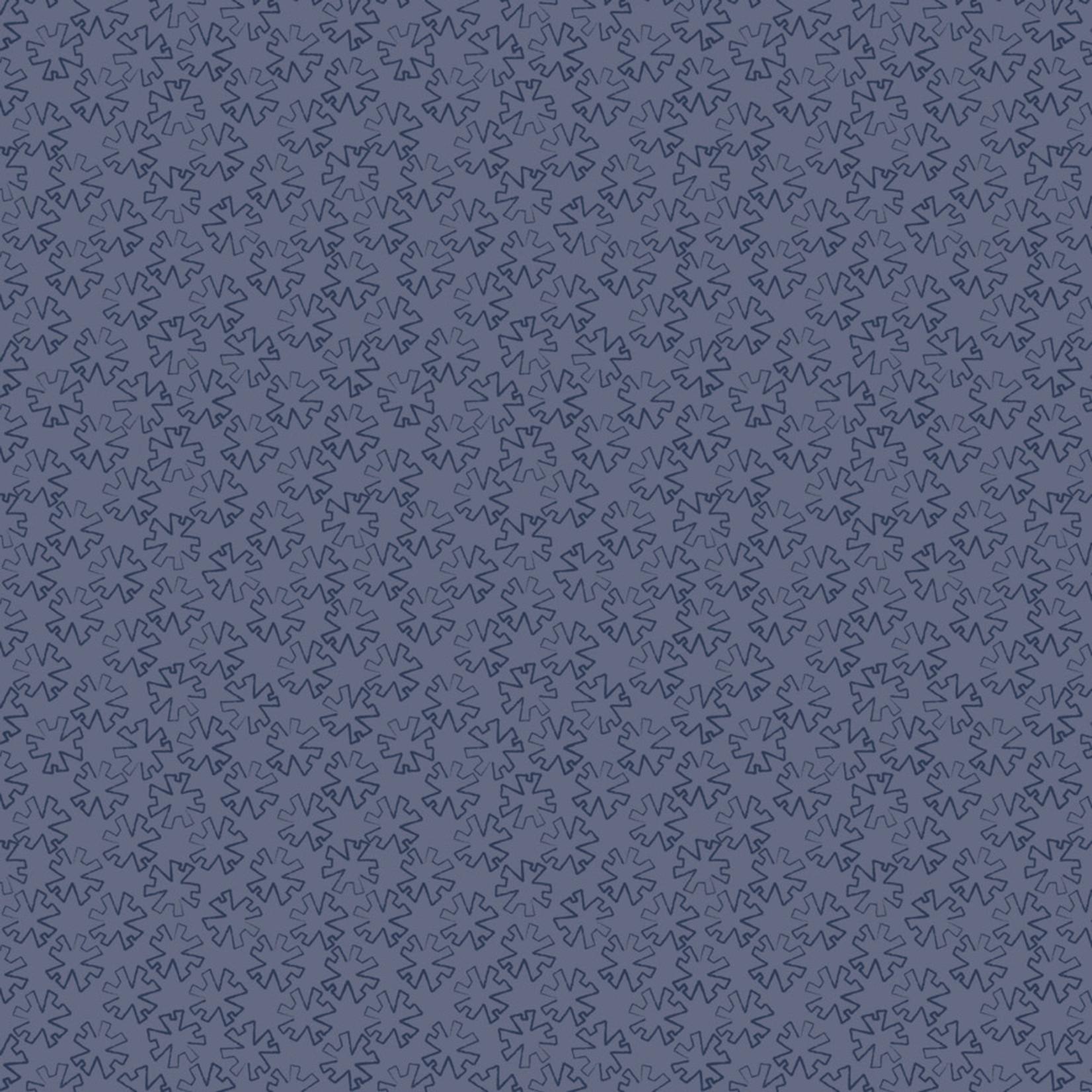 Stoffabrics Hannah Basic - Asterisk - Blue
