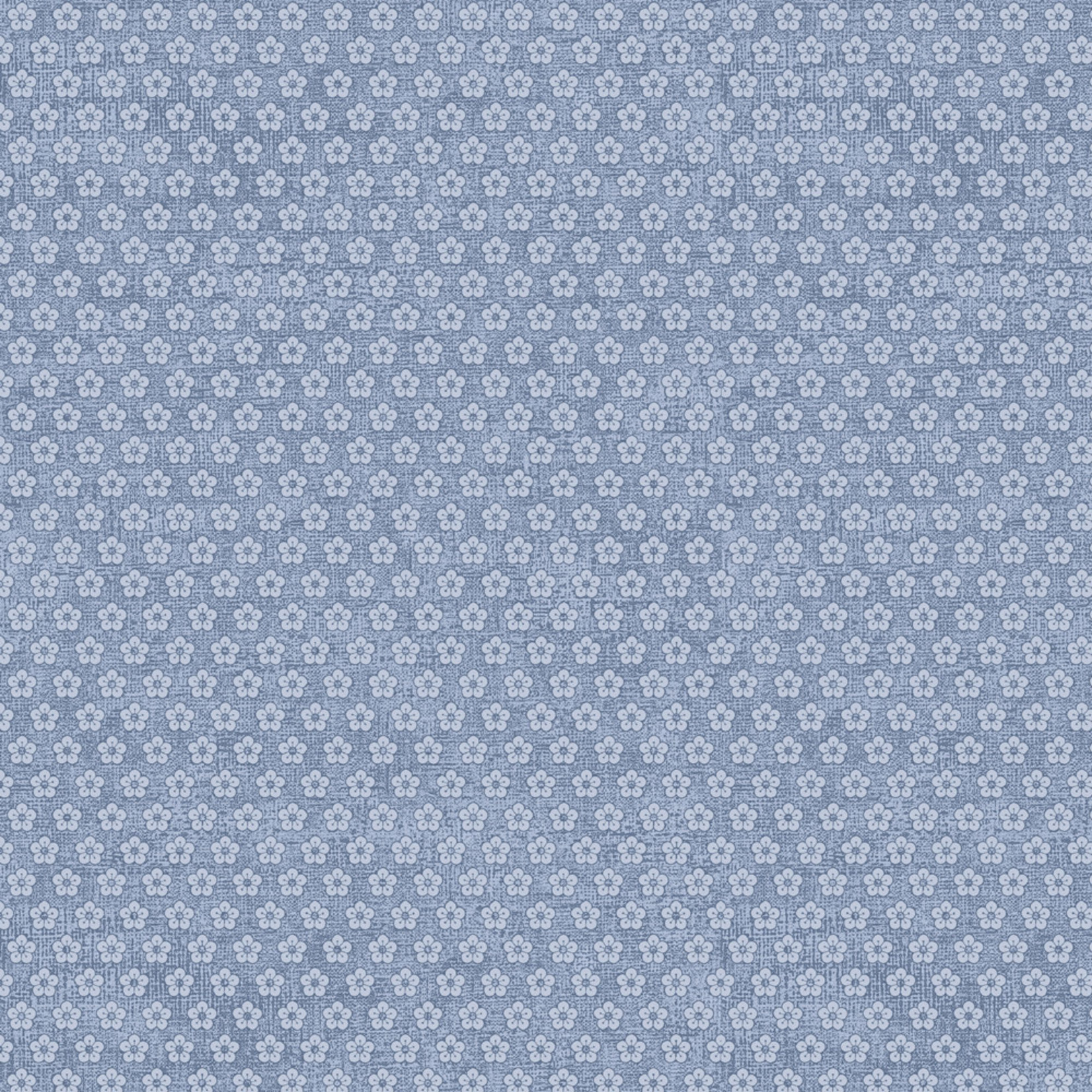 Stoffabrics Hannah Basic - Buttercups - Blue