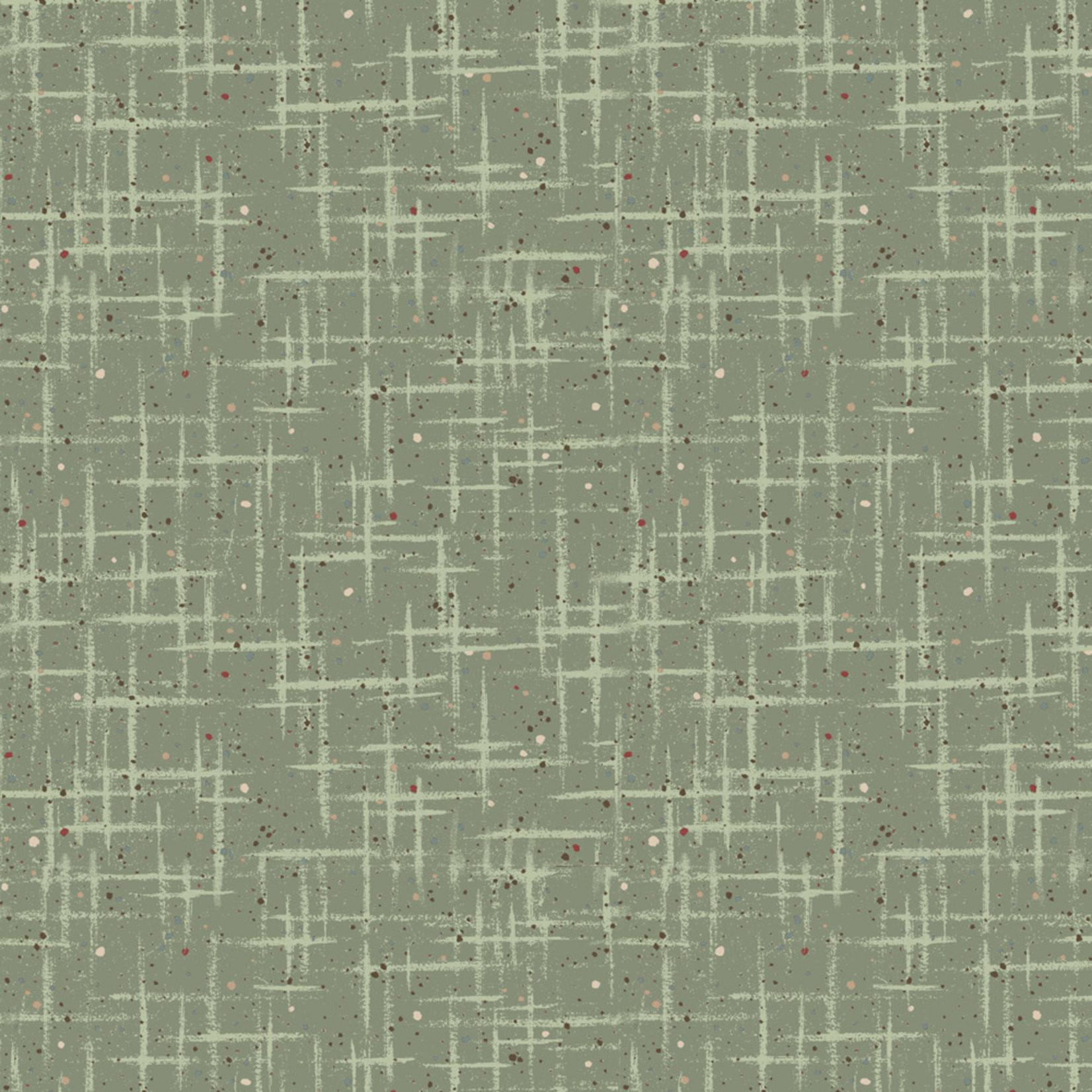 Stof Fabrics Hannah Basic - Scratches - Green