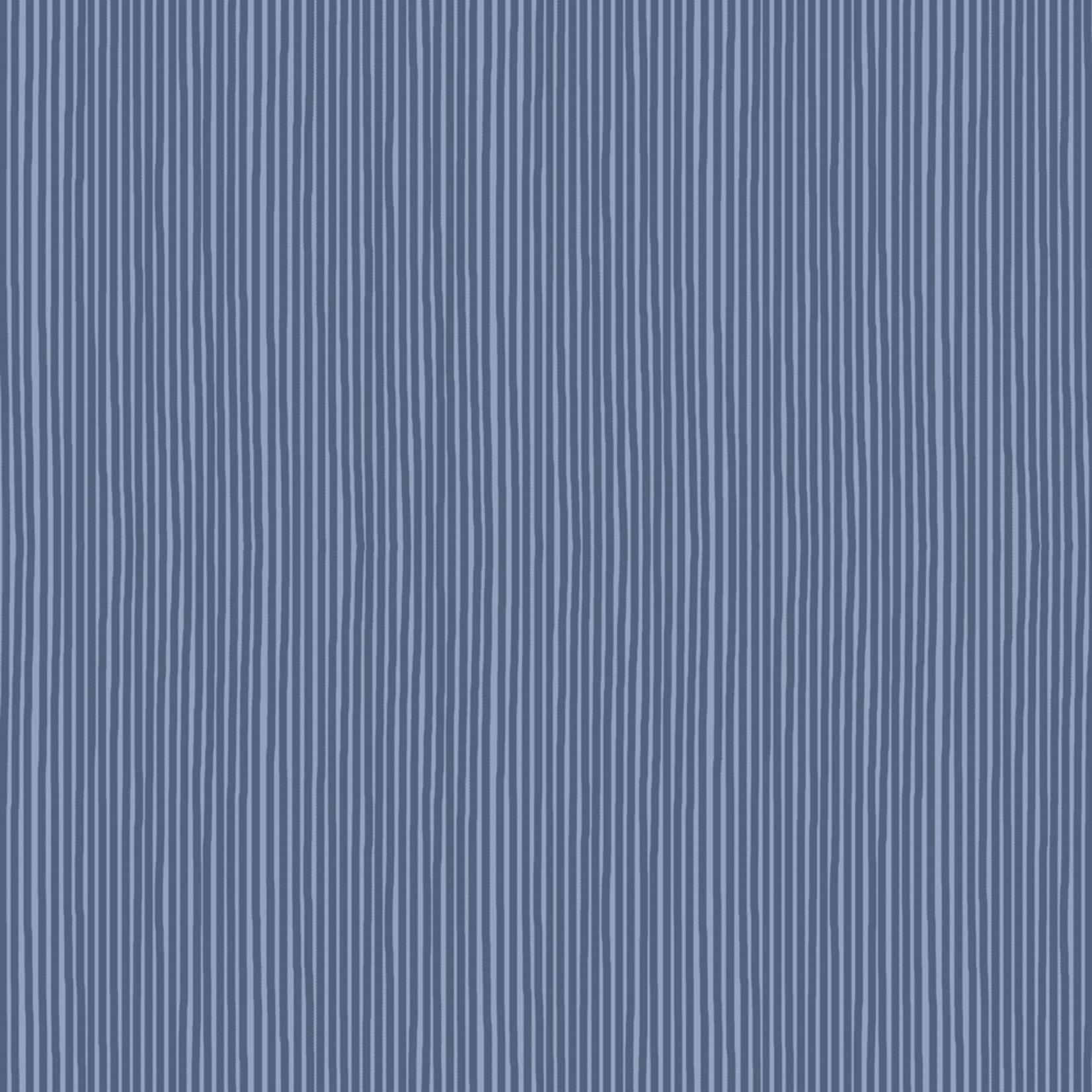Stoffabrics Hannah Basic - Pinstripes - Blue