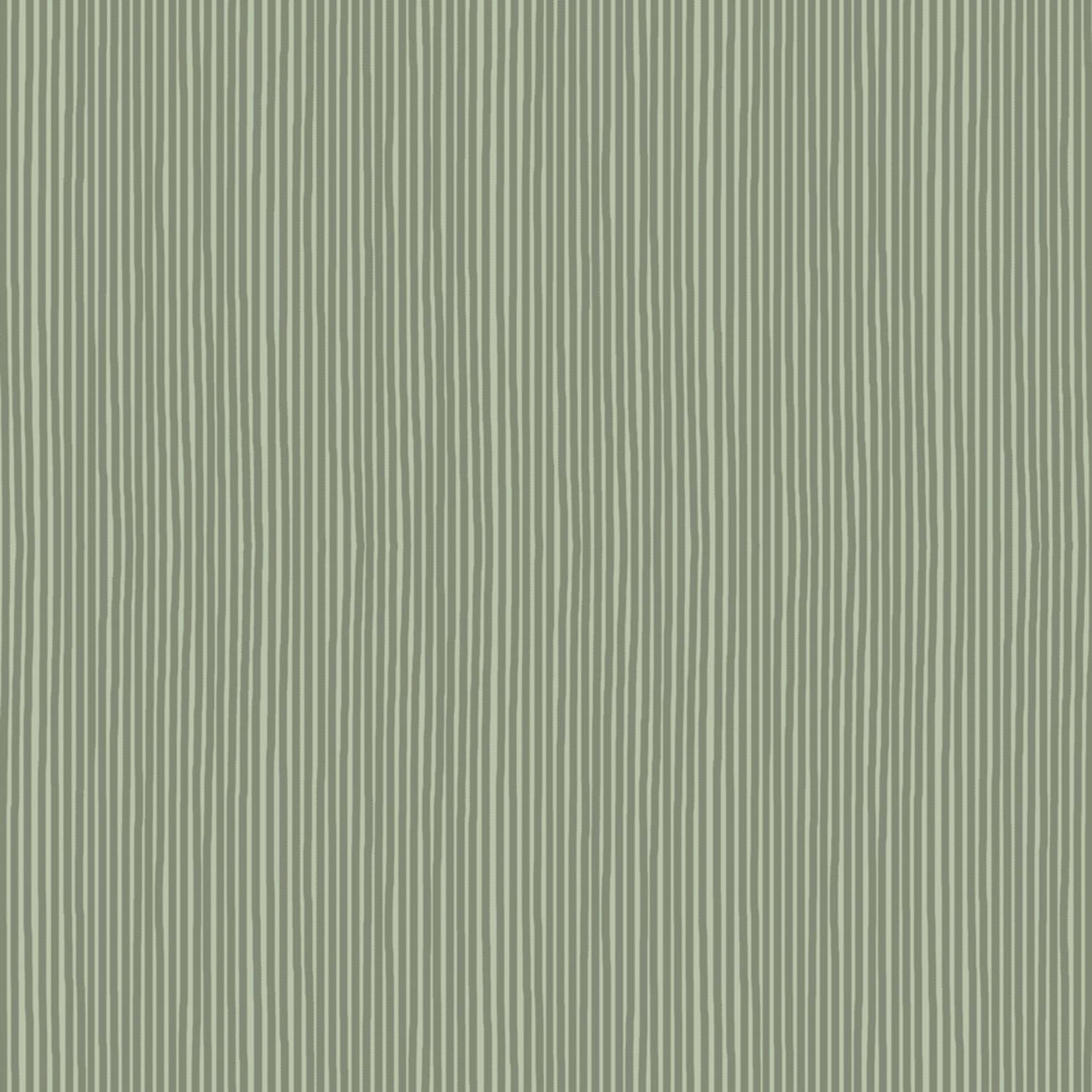 Stof Fabrics Hannah Basic - Pinstripes - Green