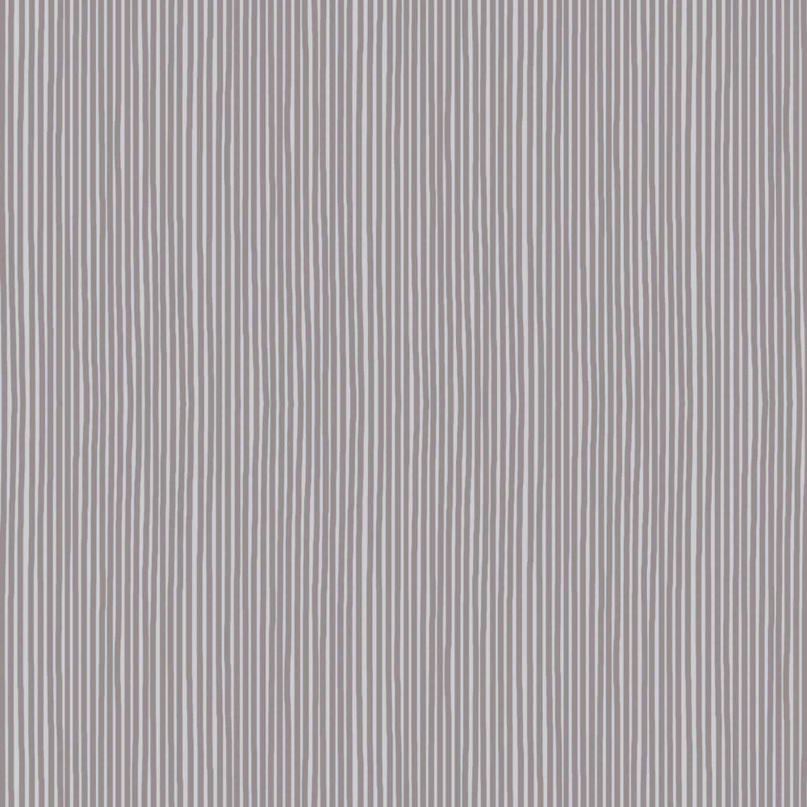 Stof Fabrics Hannah Basic - Pinstripes - Grey