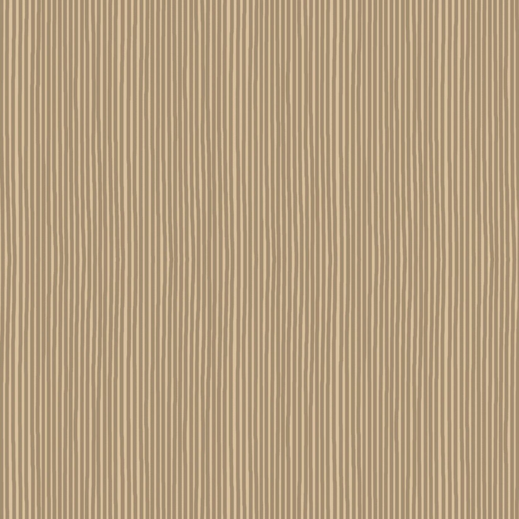 Stoffabrics Hannah Basic - Pinstripes - Taupe