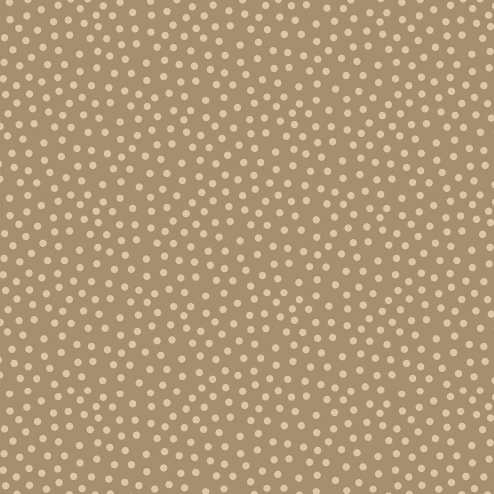 Stoffabrics Hannah Basic - Dotted - Taupe