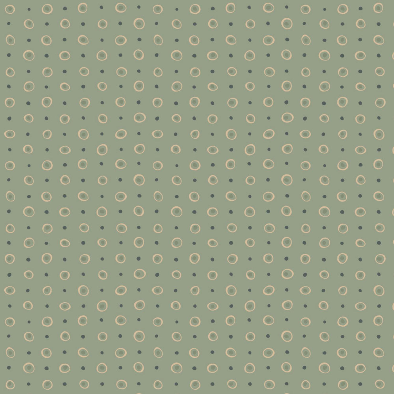 Stoffabrics Hannah Basic - Dots - Green