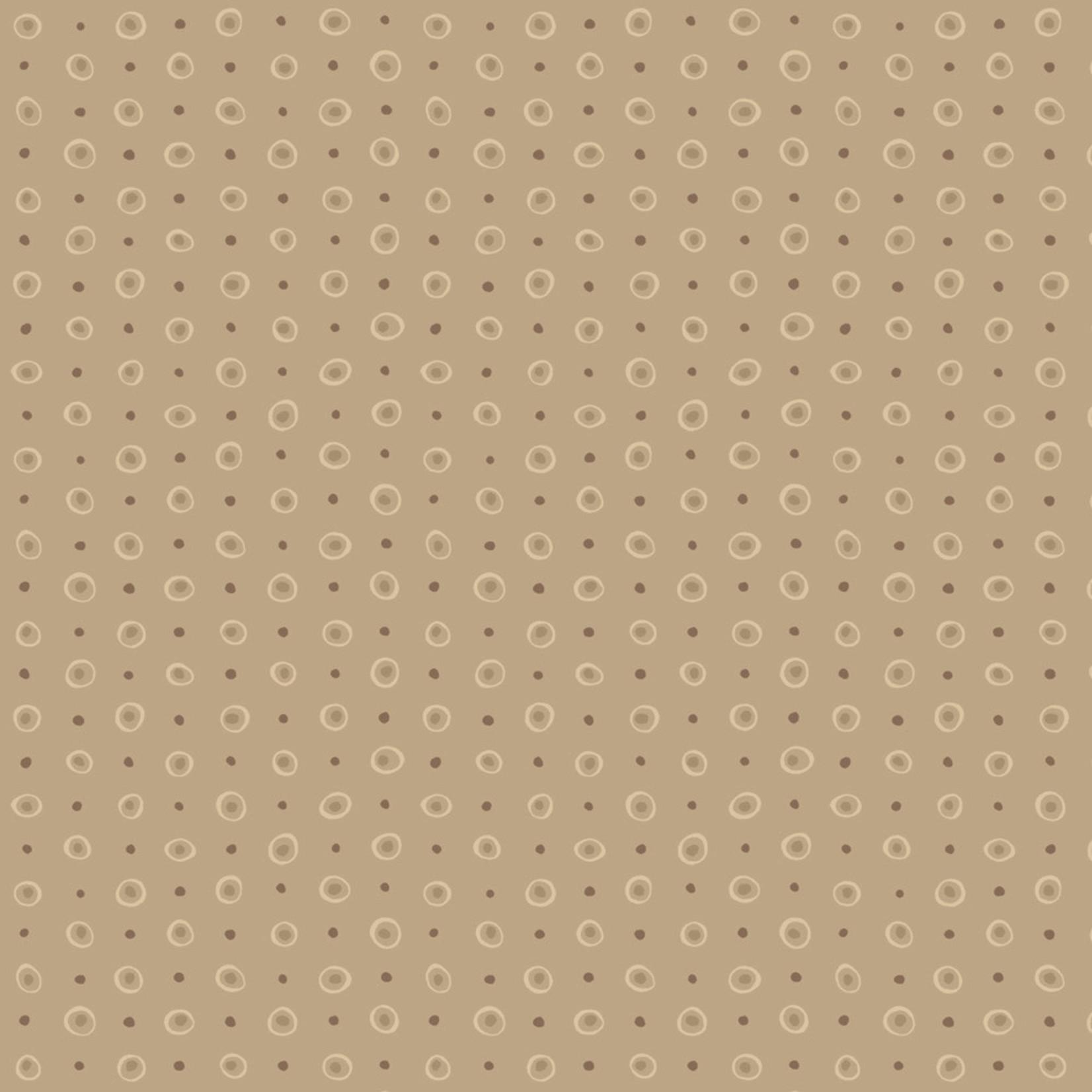 Stoffabrics Hannah Basic - Dots - Taupe