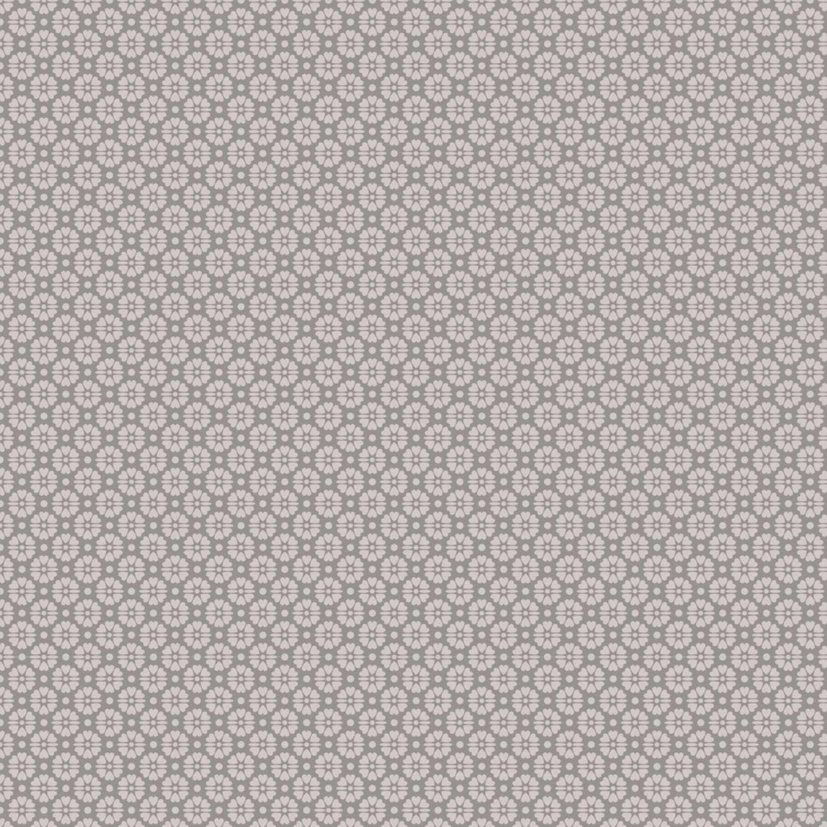 Stof Fabrics Hannah Basic - Flower Dots - Gray