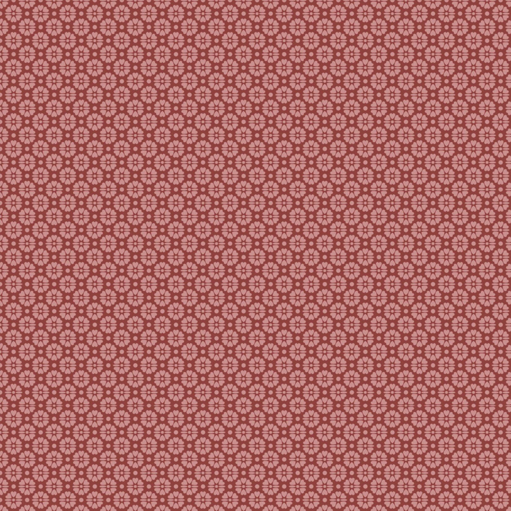Stof Fabrics Hannah Basic - Flower Dots - Red