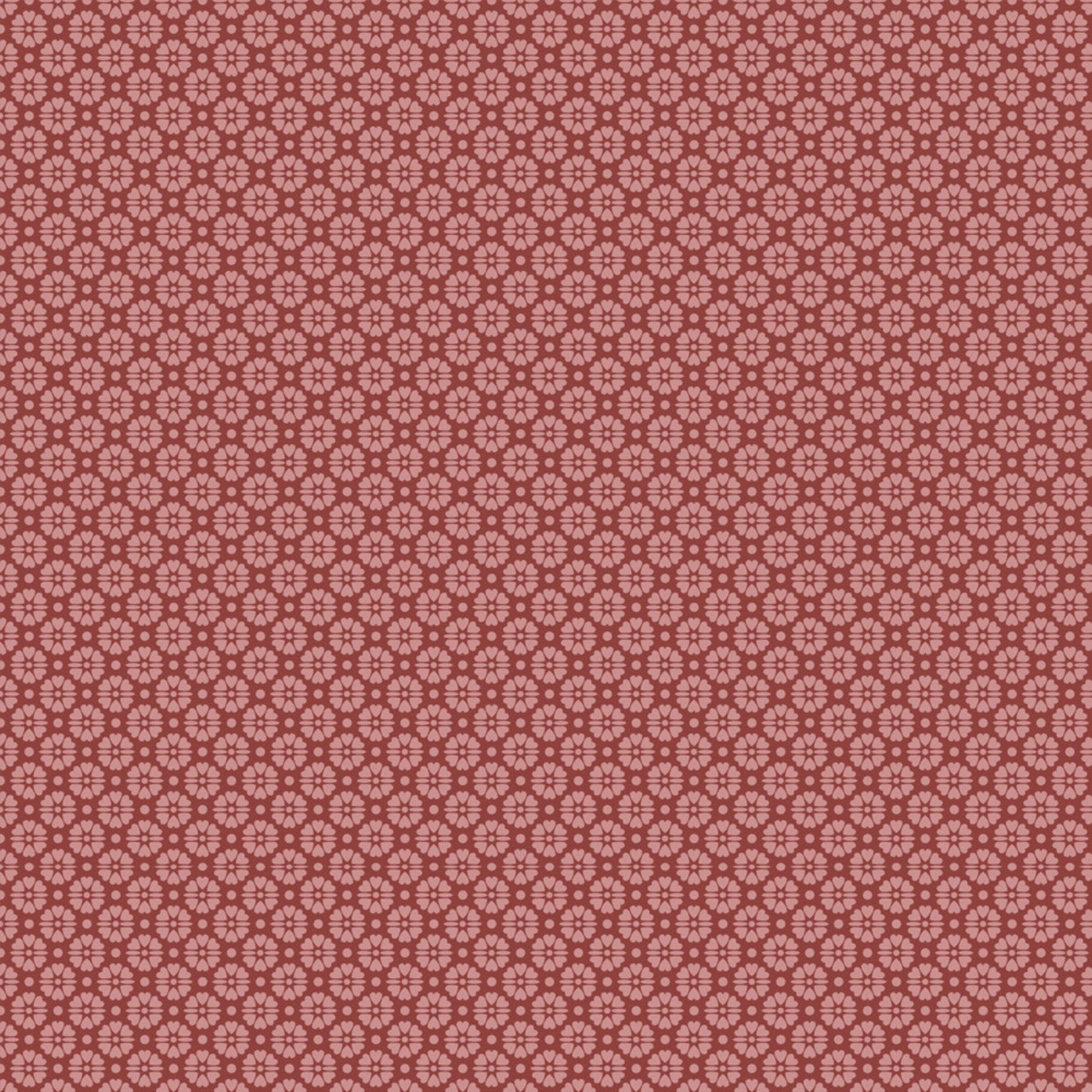 Stoffabrics Hannah Basic - Flower Dots - Red