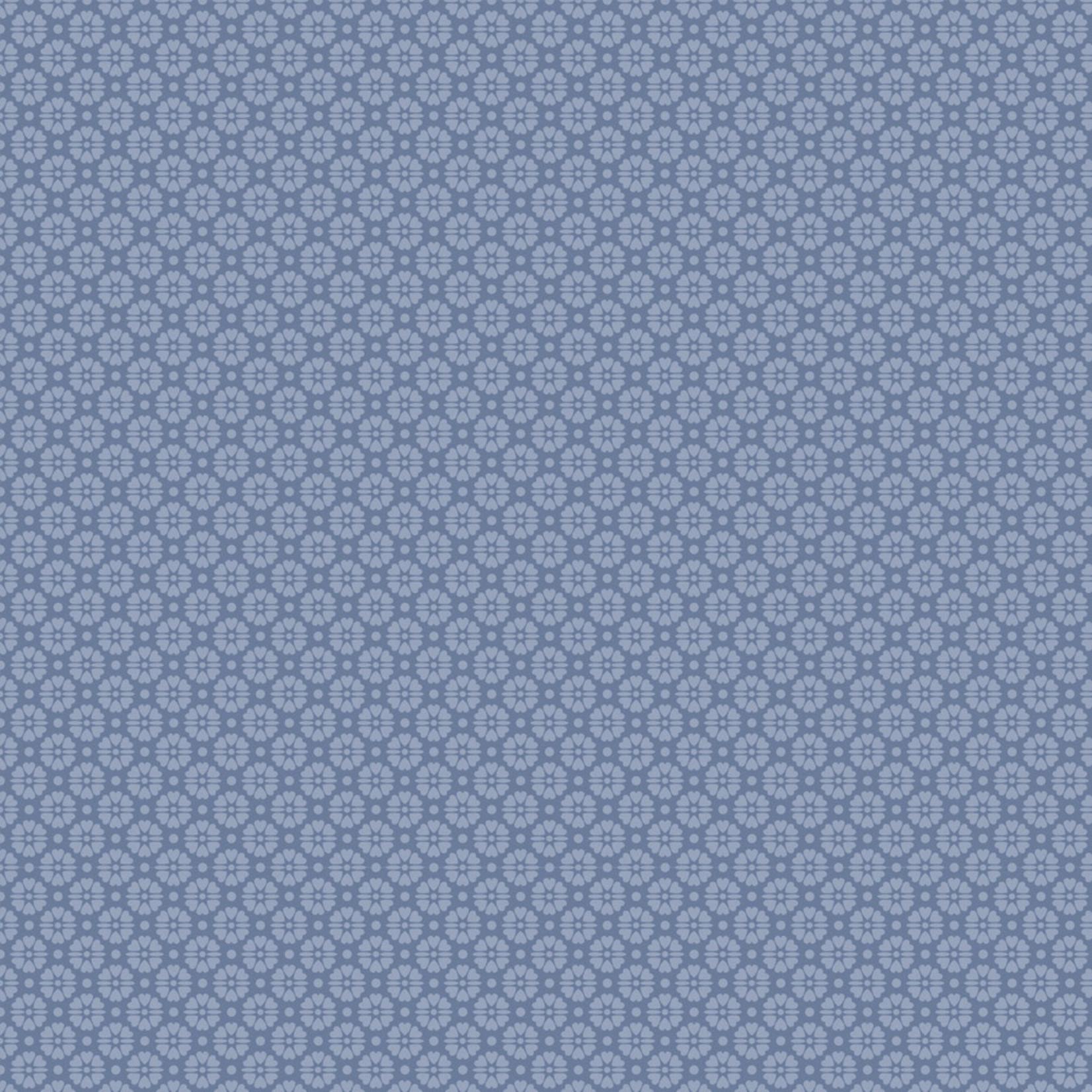 Stoffabrics Hannah Basic - Flower Dots - Blue