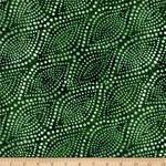 Wilmington Prints Diagonal Dots - Groen
