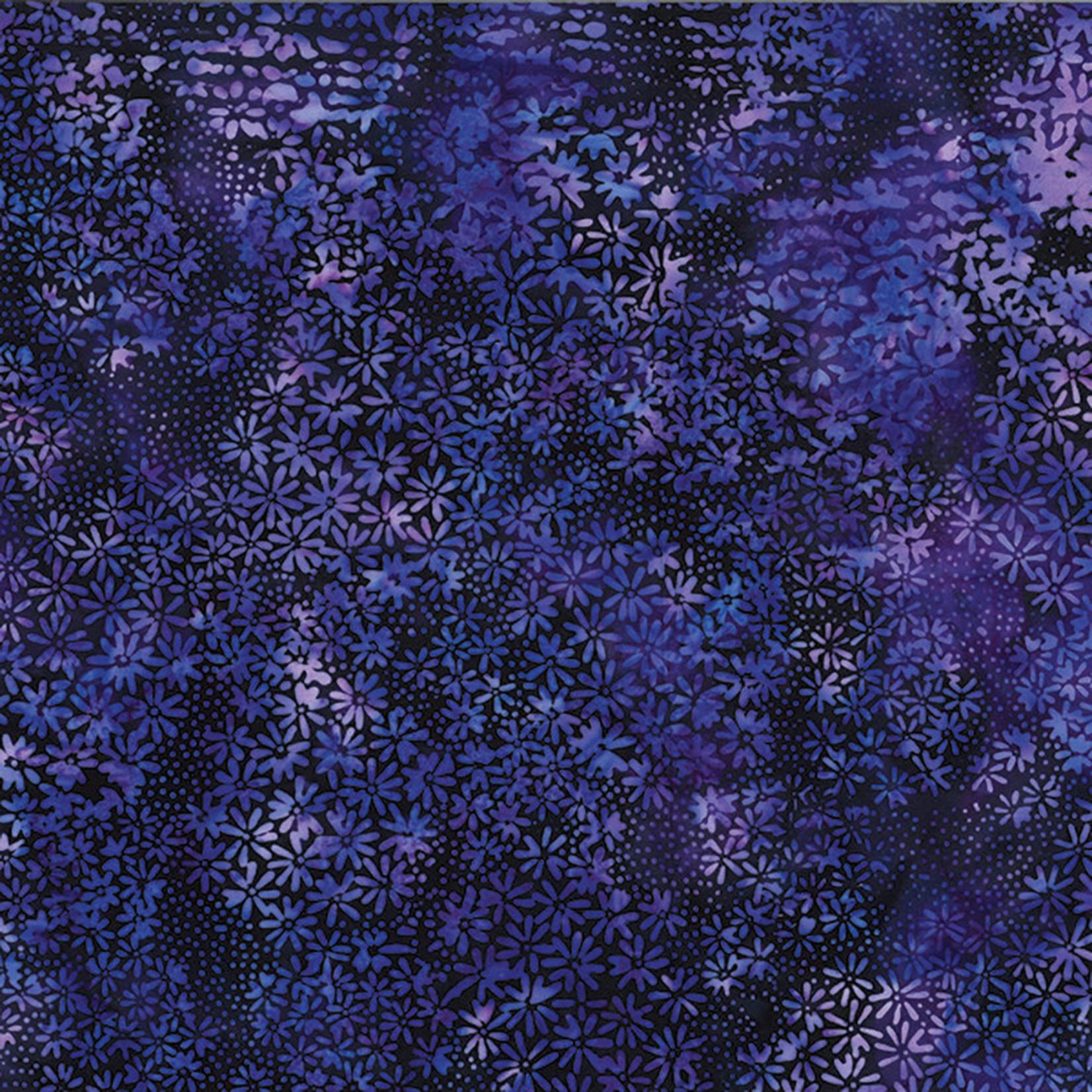 Hoffman Fabrics Bali Batik Daisys & Dots - Purple
