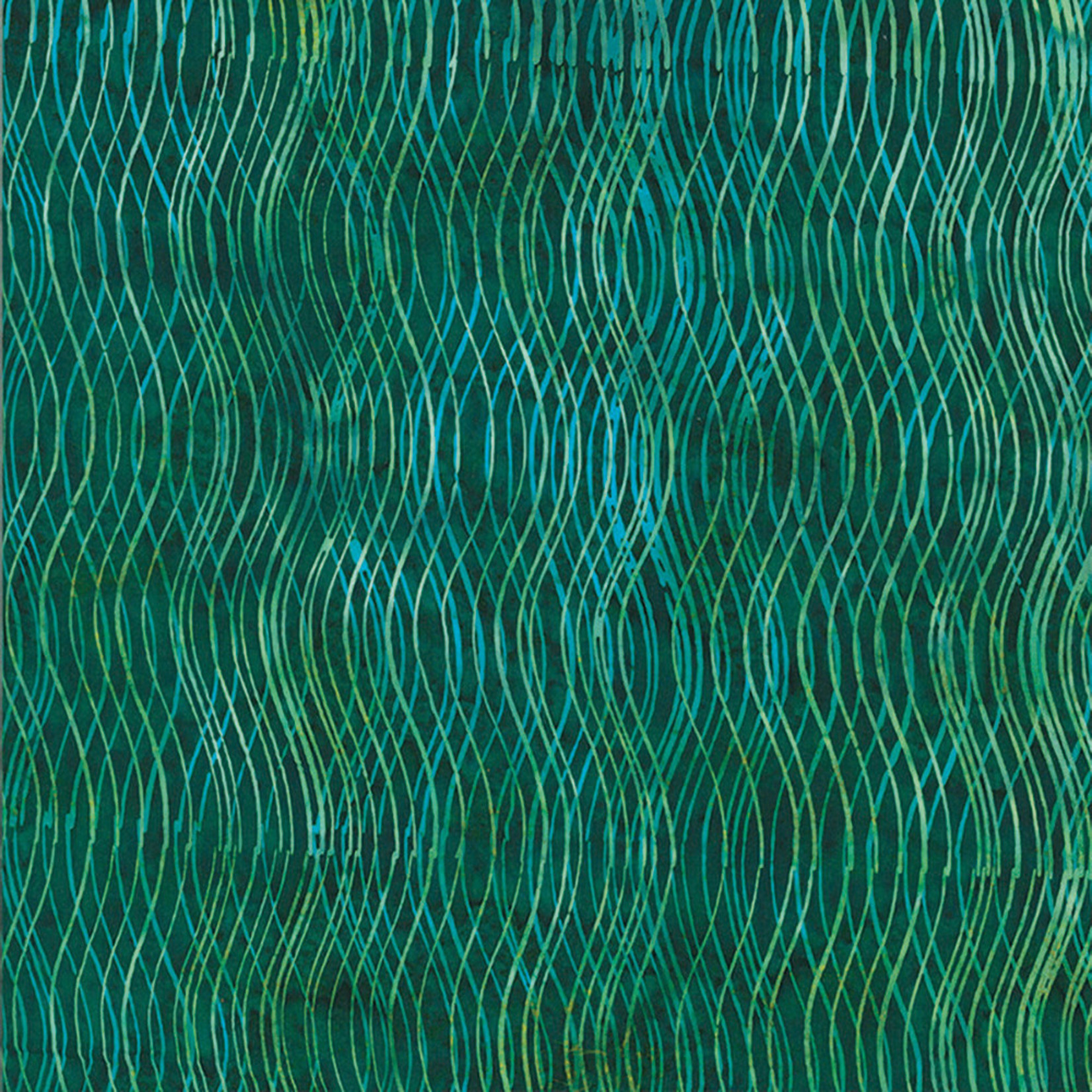 Hoffman Fabrics Bali Batik Wave - Emerald