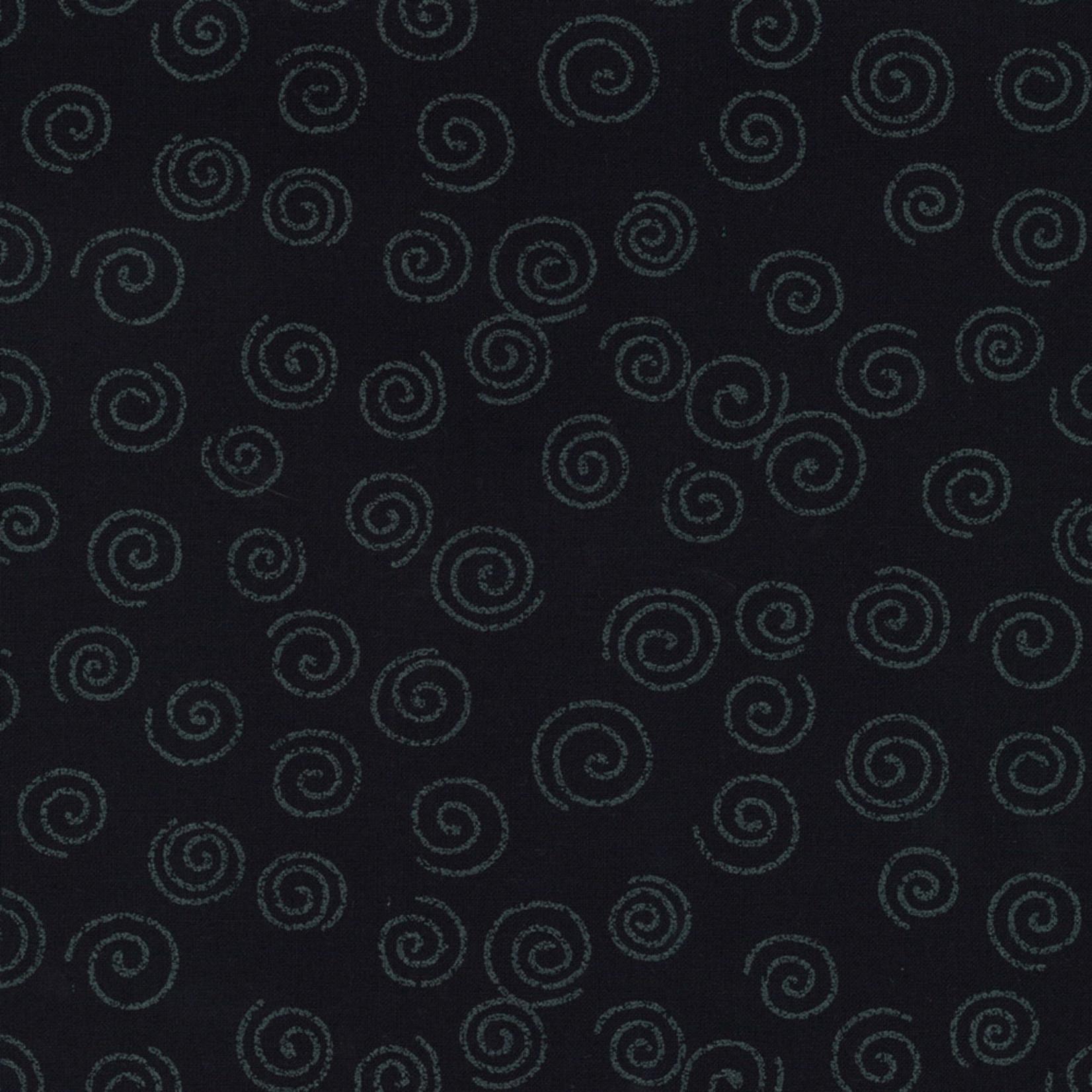 Stof Fabrics Japanese Blue - Swirls - Deep Blue