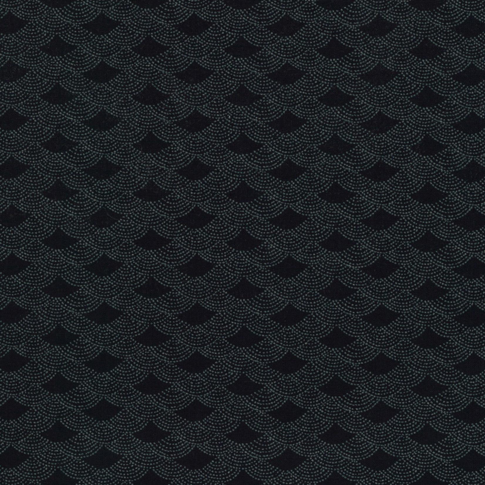 Stoffabrics Japanese Blue - Waves - Deep Blue