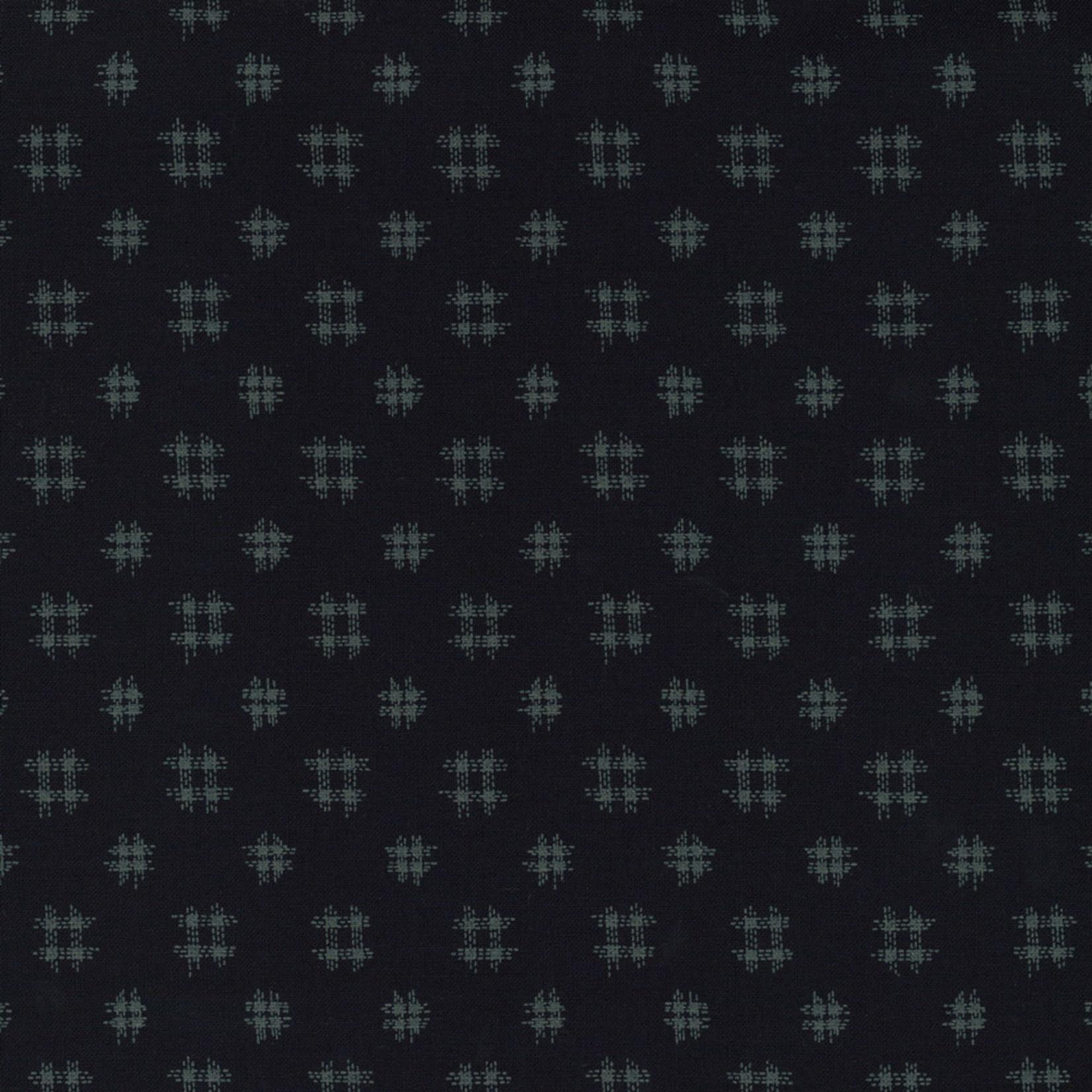 Stof Fabrics Japanese Blue - Squares - Deep Blue