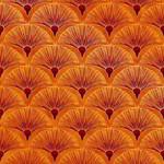 The Textile Pantry Melba - Fan - Orange