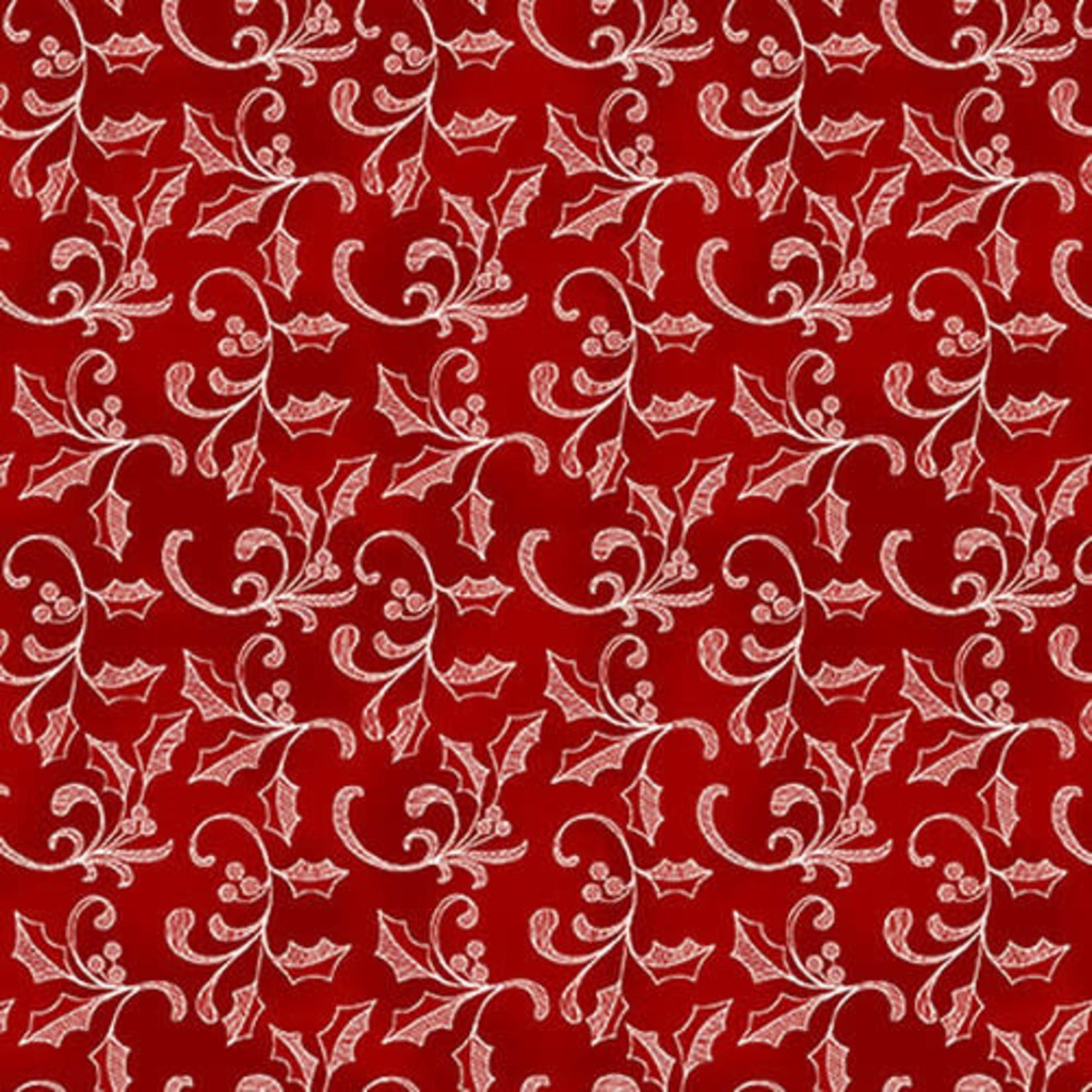Studio E Fabrics Home For The Holidays - Red