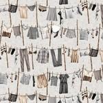 StudioE Fabrics Loads of Fun - Washing Line - Grey