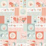 StudioE Fabrics Woodland Tea Time - Patchwork Critters - Multi
