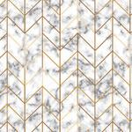 StudioE Fabrics Watercolor Sketchbook - Marble Geo - White